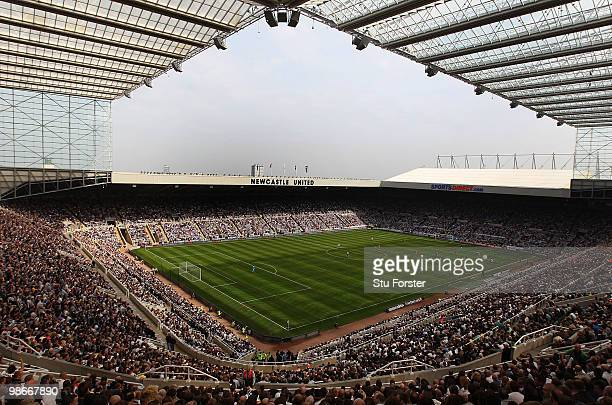 A general view of the action at St James' Park during the Coca Cola Championship match between Newcastle United and Ipswich Town at St James Park on...