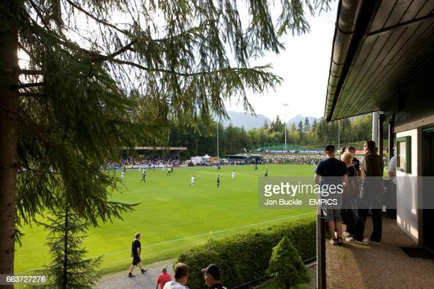 General view of the action between Borussia Monchengladbach and Panathinaikos Athens