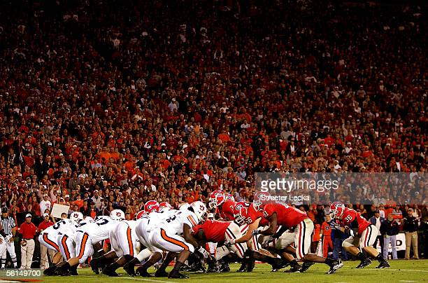 A general view of the action between the Auburn Tigers and Georgia Bulldogs during their game on November 12 2005 at Sanford Stadium in Athens Georgia