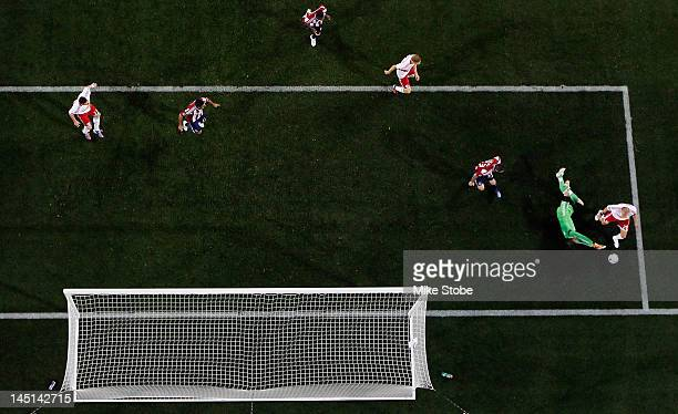 A general view of the action between the New York Red Bulls and Chivas USA at Red Bull Arena on May 23 2012 in Harrison New Jersey