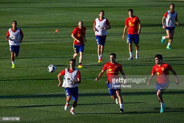 General view of the action during a training session at La Ciudad del Futbol de las Rozas on June 6 2016 in Madrid Spain