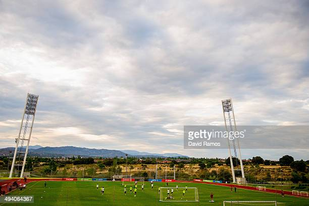 General view of the action during a training session of the Spain National Team at Ciudad del Futbol on May 27 2014 in Las Rozas de Madrid Spain