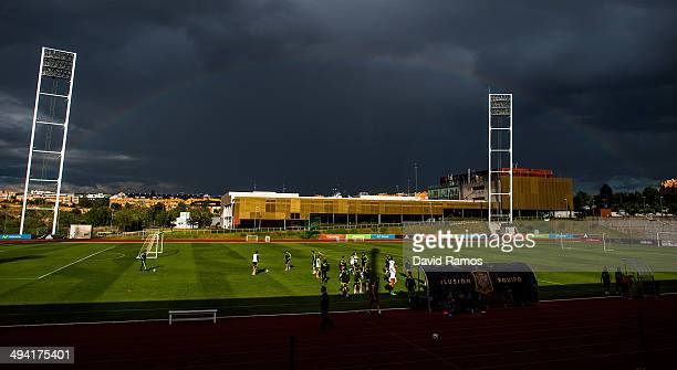 General view of the action during a training session of the Spain National Team at Ciudad del Futbol on May 28 2014 in Las Rozas de Madrid Spain