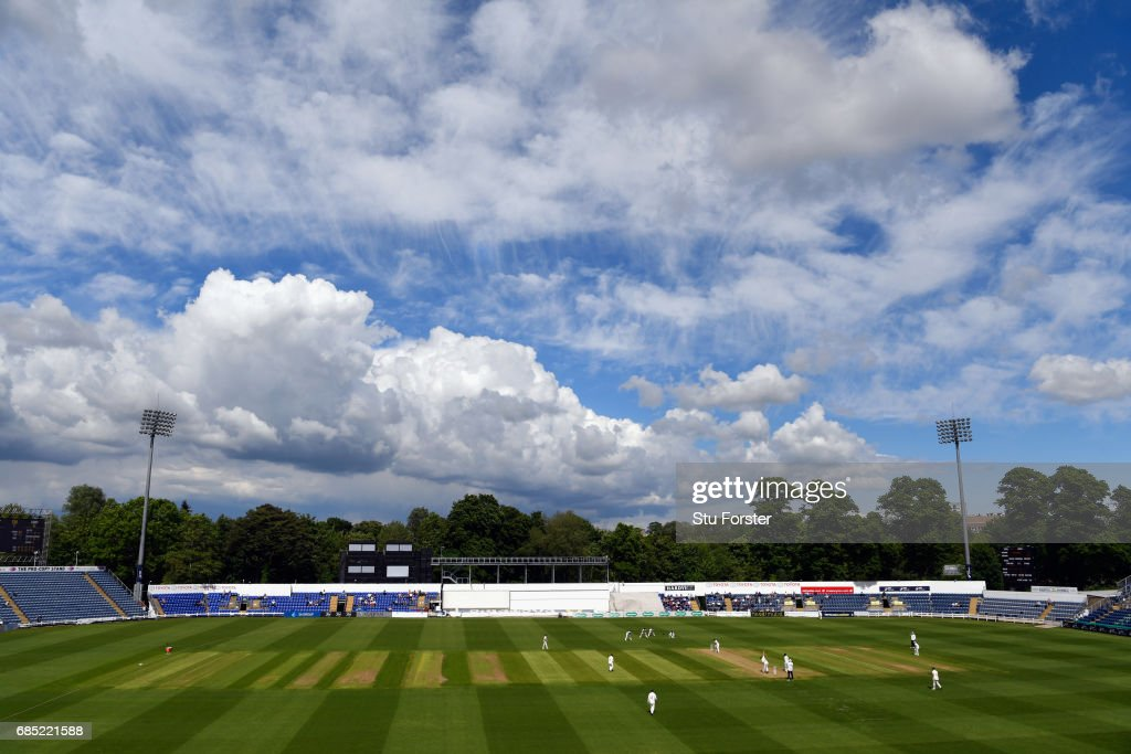A general view of the action during Day One of the Specsavers County Championship Divsion Two match between Glamorgan and Nottinghamshire at SWALEC Stadium on May 19, 2017 in Cardiff, Wales.