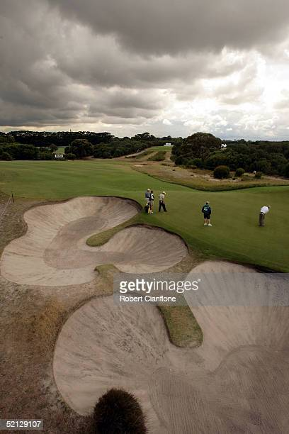 A general view of the action during day two of the 2005 Heineken Classic at the Royal Melbourne Golf Club on February 4 2005 in Melbourne Australia