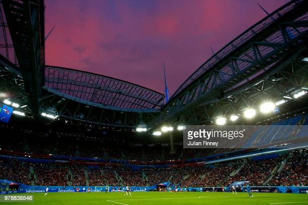 General view of the action during the 2018 FIFA World Cup Russia group A match between Russia and Egypt at Saint Petersburg Stadium on June 19 2018...