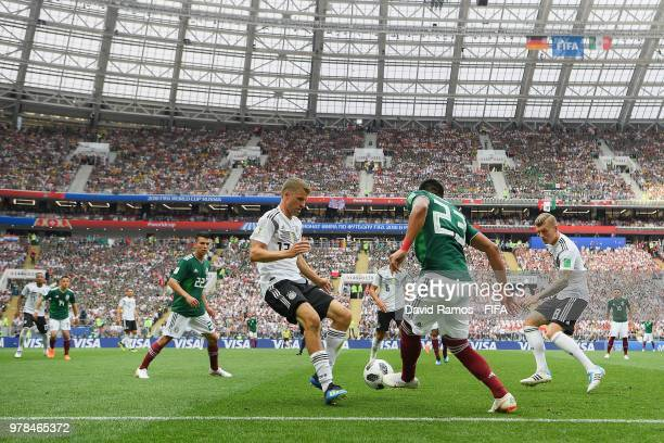 General view of the action during the 2018 FIFA World Cup Russia group F match between Germany and Mexico at Luzhniki Stadium on June 17 2018 in...