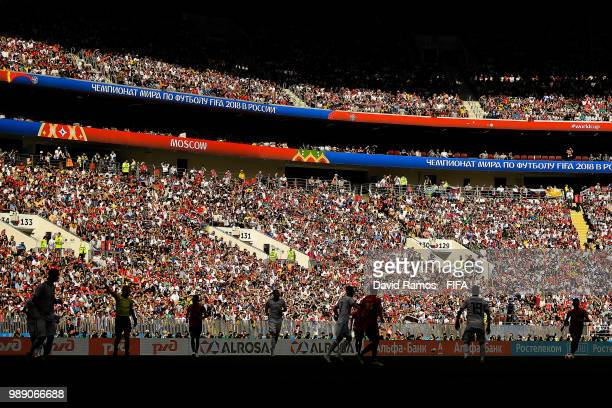 General view of the action during the 2018 FIFA World Cup Russia Round of 16 match between Spain and Russia at Luzhniki Stadium on July 1 2018 in...
