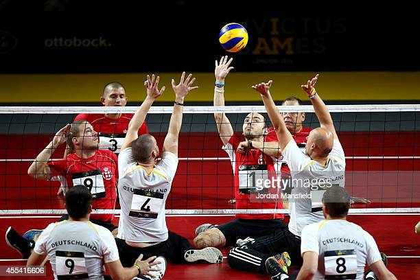 A general view of the action during the 5th/6th Place Playoff between Denmark and Germany on Day Four of the Invictus Games at the Olympic Park on...