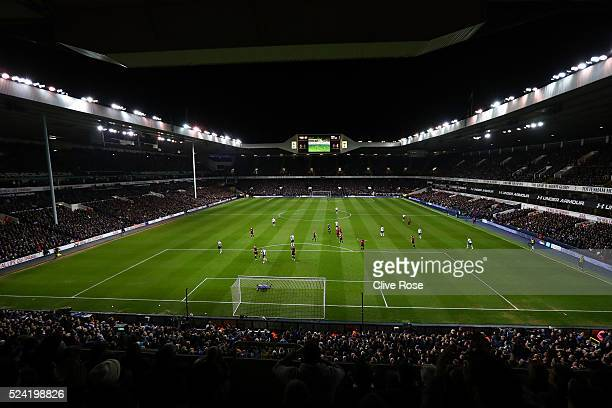 A general view of the action during the Barclays Premier League match between Tottenham Hotspur and West Bromwich Albion at White Hart Lane on April...