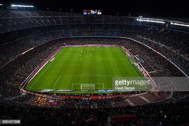 General view of the action during the Copa del Rey round of 32 second leg match between FC Barcelona and Hercules at Camp Nou on December 21 2016 in...