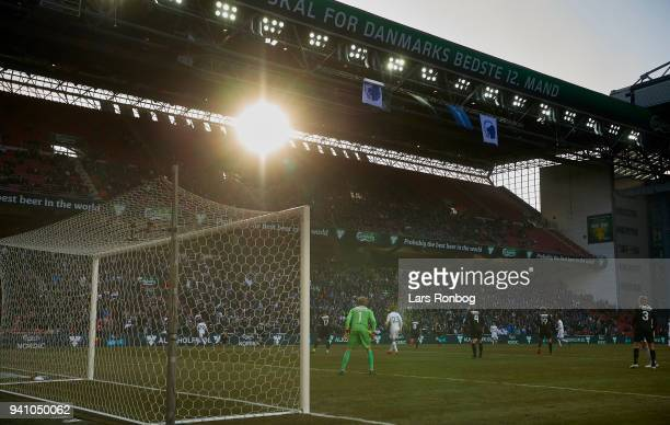 General view of the action during the Danish Alka Superliga match between FC Copenhagen and FC Nordsjalland at Telia Parken Stadium on April 2 2018...