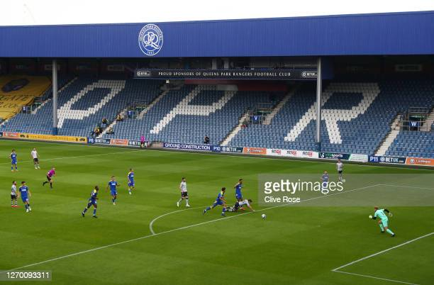 General view of the action during the EFL Trophy match AFC Wimbledon and Charlton Athletic at The Kiyan Prince Foundation Stadium on September 01...