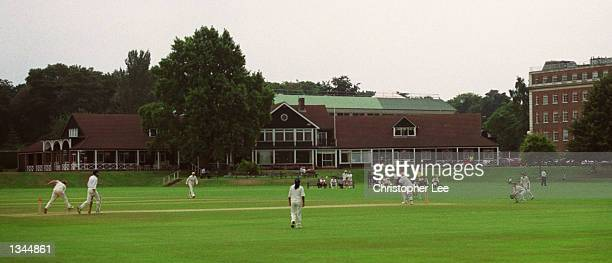 General view of the action during the England Ladies v Lords and Commons match played at the Bank of England Sports Centre, Roehampton, London,...