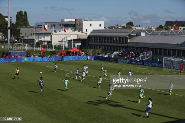 General View of the action during the FIFA U20 Women's World Cup France 2018 group D match between Haiti and Nigeria at Stade de Marville on August 9...