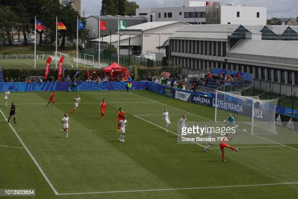General view of the action during the FIFA U20 Women's World Cup France 2018 group D match between Germany and China PR at Stade de Marville on...