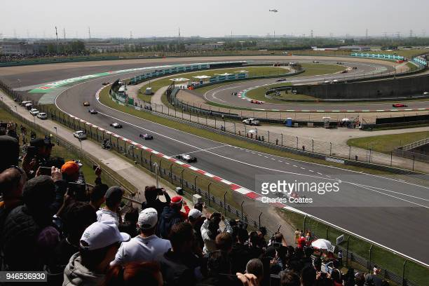 A general view of the action during the Formula One Grand Prix of China at Shanghai International Circuit on April 15 2018 in Shanghai China