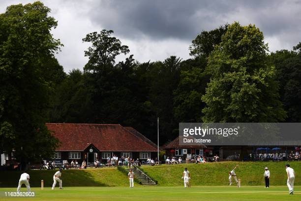 General view of the action during the Men's Secretary match between the Duke of Norfolk's XI and the MCC on July 21, 2019 in Arundel, England.