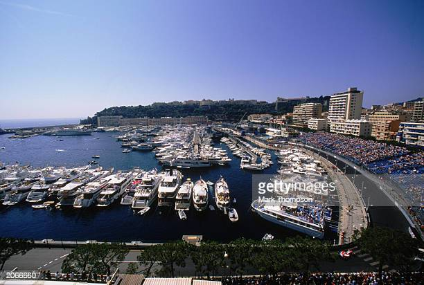 General view of the action during the Monaco Formula One Grand Prix held on June 1, 2003 in Monte Carlo, Monaco.