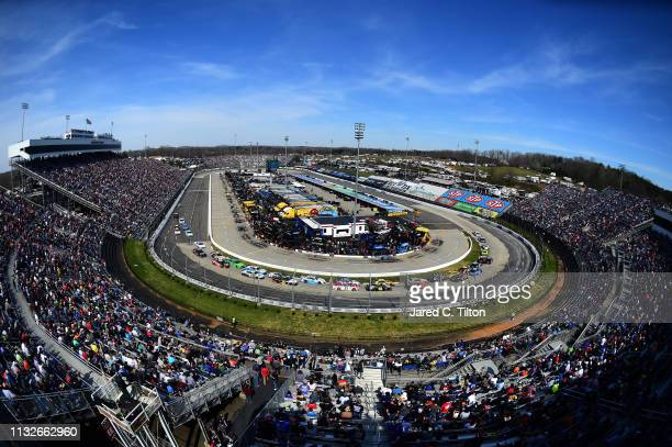 A general view of the action during the Monster Energy NASCAR Cup Series STP 500 at Martinsville Speedway on March 24 2019 in Martinsville Virginia