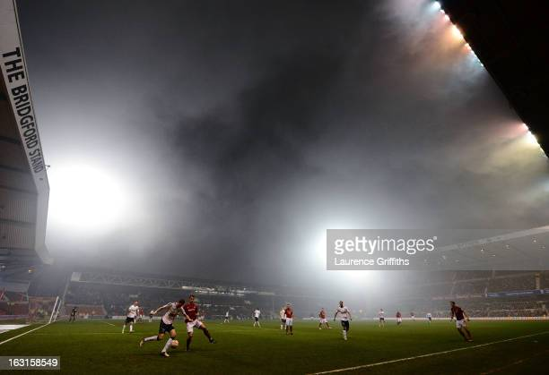 A general view of the action during the npower Championship match between Nottingham Forest and Ipswich Town at City Ground on March 5 2013 in...
