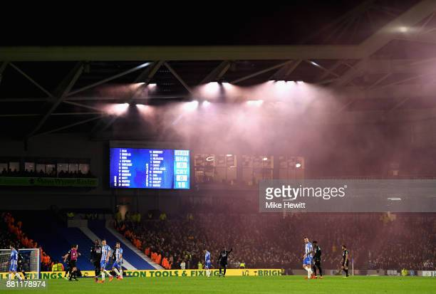 A general view of the action during the Premier League match between Brighton and Hove Albion and Crystal Palace at Amex Stadium on November 28 2017...