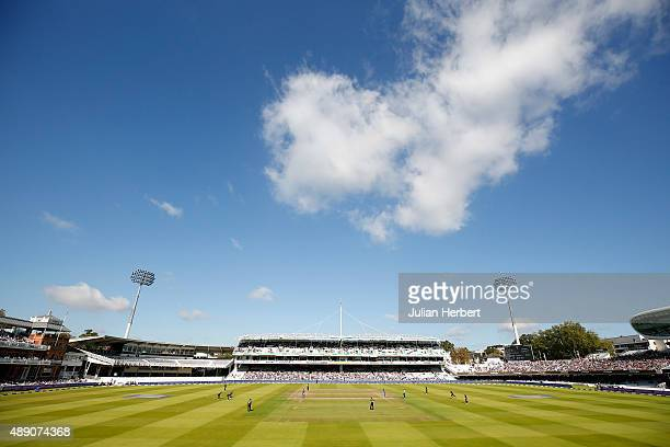 A general view of the action during the Royal London OneDay Cup Final between Surrey and Gloustershire at Lord's Cricket Ground on September 19 2015...
