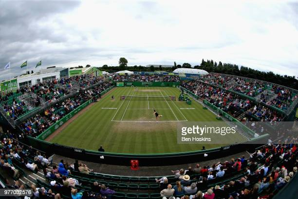General view of the action in the Womens Singles Final during Day Nine of the Nature Valley Open at Nottingham Tennis Centre on June 17, 2018 in...