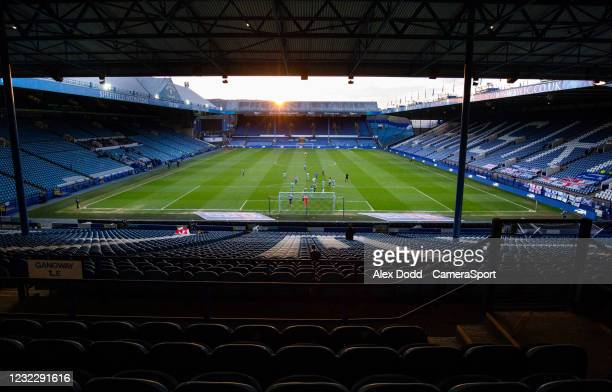 General view of the action inside Hillsborough Stadium, home of Sheffield Wednesday during the Sky Bet Championship match between Sheffield Wednesday...