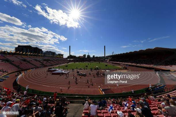 General view of the action on day one of The IAAF World U20 Championships on July 10, 2018 in Tampere, Finland.