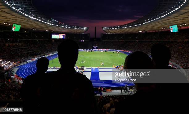 A general view of the action underway during day two of the 24th European Athletics Championships at Olympiastadion on August 8 2018 in Berlin...