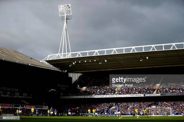 A general view of the action underway during the Sky Bet Championship match between Ipswich Town and Norwich City at Portman Road on October 22 2017...