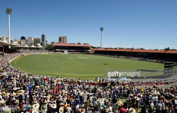 A general view of the Adelaide Oval during day three of the Fourth Test between Australia and India at Adelaide Oval January 26 2008 in Adelaide...