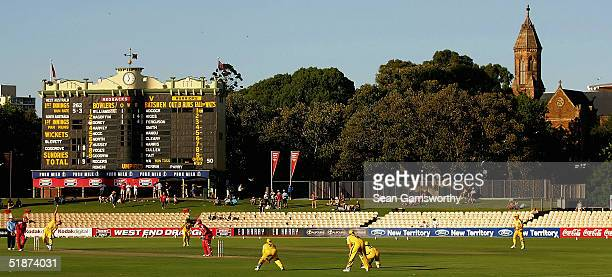 A general view of the Adelaide Oval during the ING Cup match between the South Australian Redbacks and the Western Warriors at Adelaide Oval December...