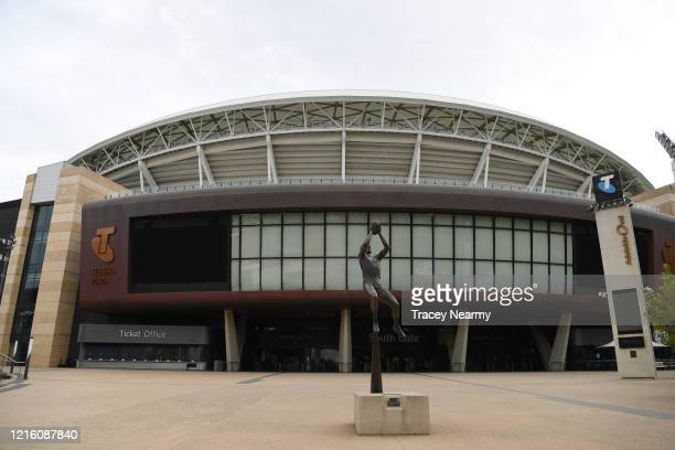 General view of the Adelaide Oval on April 01, 2020 in Adelaide, Australia. The current Covid 19 Pandemic and restrictions in place the stadium is...