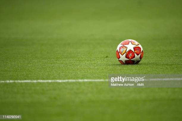 General View of the adidas match ball prior to the UEFA Champions League Semi Final first leg match between Tottenham Hotspur and Ajax at at the...