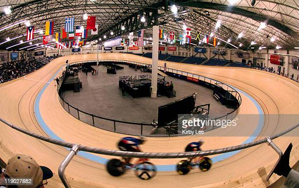 General view of the ADT Event Center at the Home Depot Center the first indoor international standard velodrome in North America
