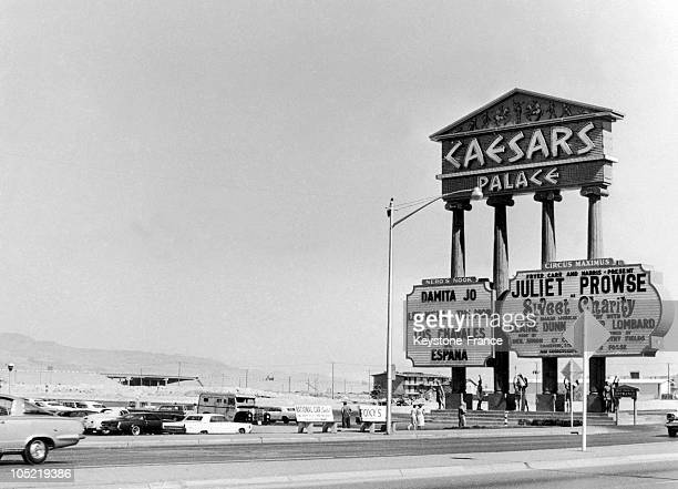 General View Of The Advertisement Edifice Indicating The Entrance To Caesar'S Palace In Las Vegas On July 19 1967