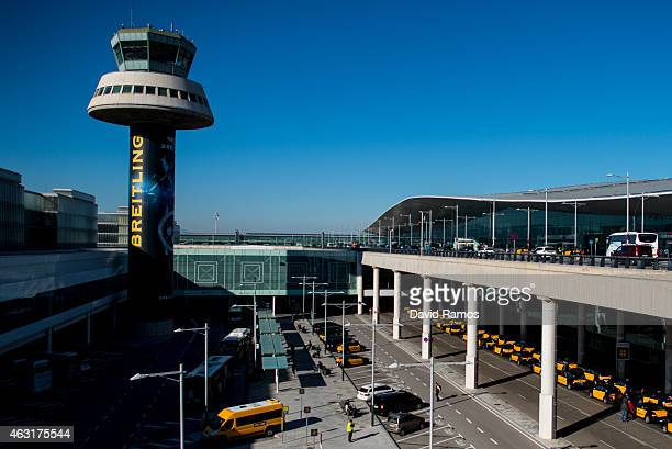 A general view of the Aena operated Barcelona El Prat International Airport on February 10 2015 in Barcelona Spain Shares in statecontrolled Spanish...