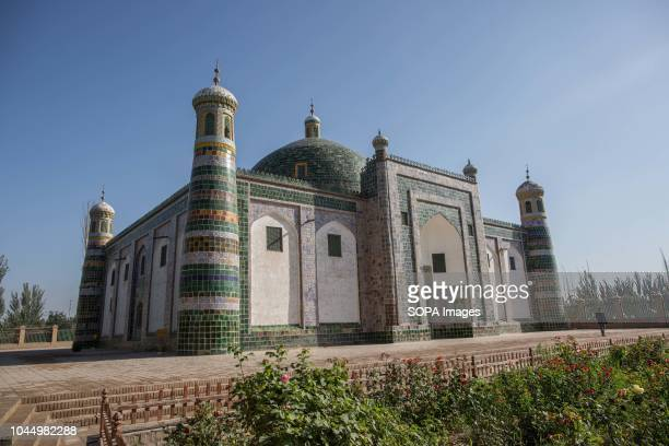 General view of the Afaq Khoja Mausoleum, knows as the holiest Muslim site in Xinjiang, located 5km from the centre of Kashgar, in Haohan Village,...