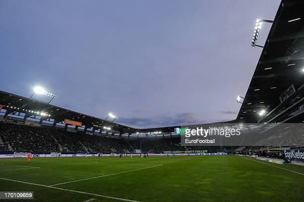 General view of the AFG Arena home of FC St Gallen taken during the Swiss Super League match between FC St Gallen and Grasshopper Club held on May 29...