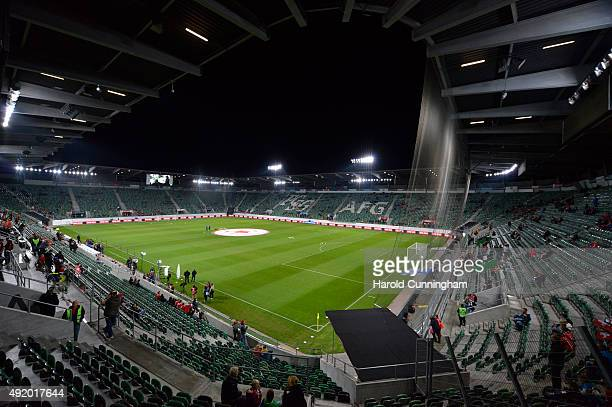 A general view of the AFG Arena prior to the UEFA EURO 2016 qualifier between Switzerland and San Marino at AFG Arena on October 9 2015 in St Gallen...