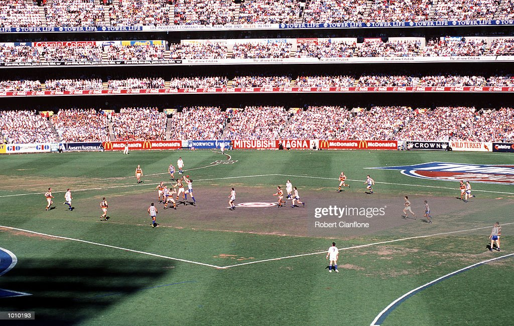 General view of the AFL Grand Final game between North Melbourne and Adelaide at the MCG,Melbourne,Victoria,Australia.Adelaide defeated North Melbourne. Mandatory Credit: Robert Cianflone/ALLSPORT