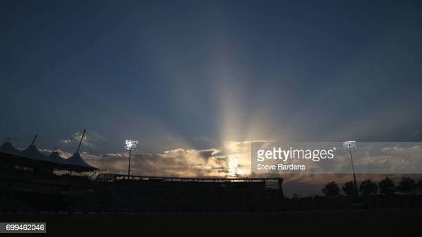 General view of the Ageas Bowl during the 1st NatWest T20 International match between England and South Africa at Ageas Bowl on June 21 2017 in...