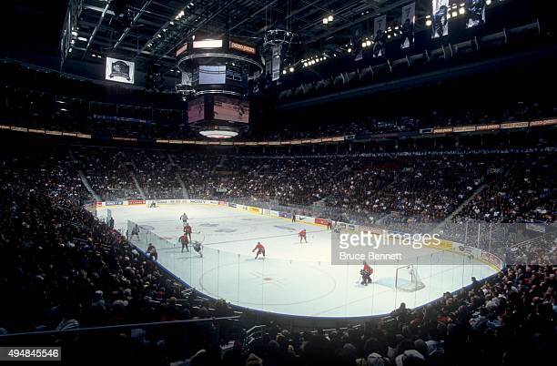 General view of the Air Canada Centre during the game between the Montreal Canadiens and the Toronto Maple Leafs on February 20 1999 at the Air...