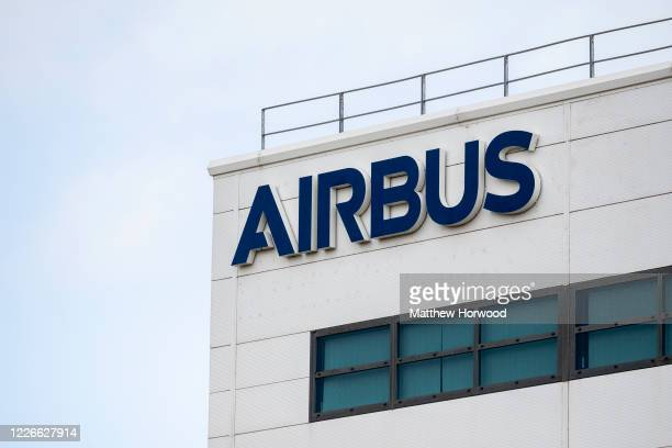 A general view of the Airbus Group offices at Celtic Springs Business Park in Duffryn on May 23 2020 in Newport United Kingdom Airbus employs 13500...
