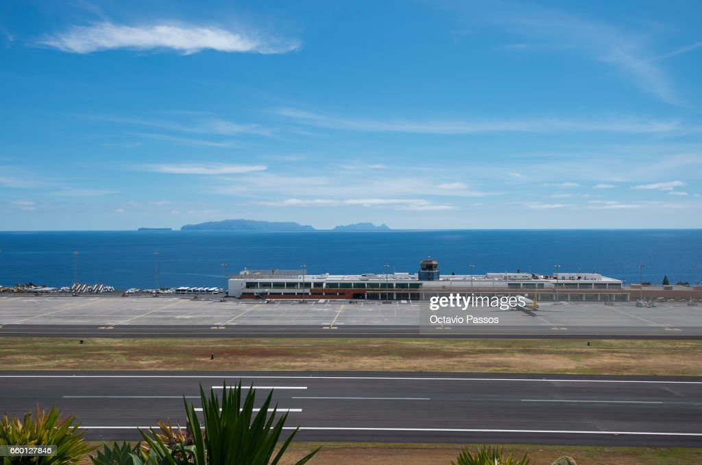 General view of the airport after the ceremony at Madeira Airport to rename it Cristiano Ronaldo Airport on March 29, 2017 in Santa Cruz, Madeira, Portugal.