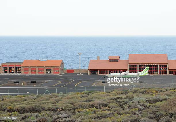 A general view of the airport on El Hierro Island January 13 2010 in El Hierro Island Spain The island inspired and features in the new film 'Hierro'...