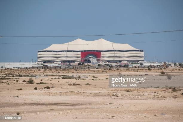 March 29: A general view of The Al Bayt Stadium in Al Khor, Qatar, a host venue for the FIFA World Cup Qatar 2022 on March 29, 2019 in Doha, Qatar.