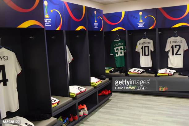 A general view of the Al Jazia dressing room ahead of the FIFA Club World Cup UAE 2017 first round match between Al Jazira and Auckland City FC at...